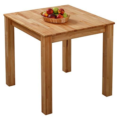 Krok Wood Table à Manger en hêtre Bonn en Bois Massif 75x75x75 cm