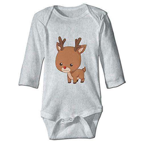 Klotr Mameluco Bebé, Cartoon Christmas Reindeer Pijama de Algodón Mameluco Niñas Niños Pelele Mono Manga Larga Trajes