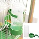 PiniceCore Pájaro de Agua Bebedor alimentador Waterer con el Clip de Aves Alimentos para Mascotas dispensador de Taza de la Botella abrevaderos para Mascotas Jaula del Loro 90ml