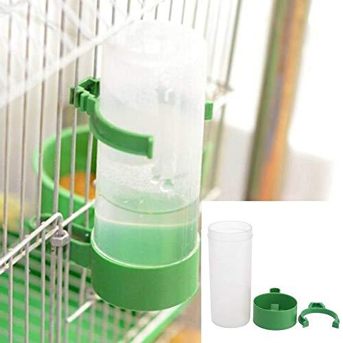 1pc Vogelfutterautomat, Vogel Wasserflasche Drinker Container Lebensmittel-Dispenser Hängend in Vogelkäfig Für Papageien Budgie Cockatiel Unzertrennliche 140ml