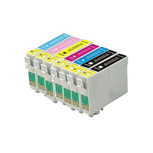 7 ECS - Cartucho de tinta compatible T0807 para impresoras de fotos Epson Stylus P50 PX700W PX710W PX720WD PX730WD PX800W PX810W PX820FWD PX650 R265 R285 RX560 RX585 R360 RX685
