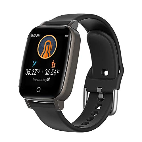 Android & iOS Compatible Sport SmartWatch by Indigi (1.3-inch Display + Sleep Monitor, Sport Modes, 24/7 Thermometer)