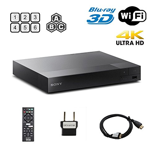 Sony BDP-S6500 2K/4K UPSCALING 2D/3D Built-in WI-FI Region Free 0-8 and All Zone A,B,C BLURAY Player with Worldwide USE and Come with Free HDMI Cable