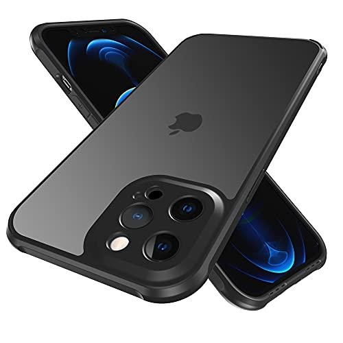 Funda a prueba de golpes para iPhone 12 Mini compatible con carga MagSafe, actualización antideslizante mate duro parte trasera suave TPU Bumper 5G teléfono funda funda (negro)