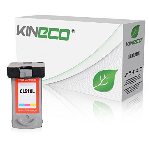 Kineco Tintenpatrone kompatibel zu Canon CL-51 Pixma MP150 MP160 MP170 MP180 MP450 MP460 MX300 MX310