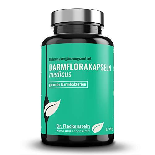 Dr.Fleckenstein Darmflora Kapseln, Nahrungsergänzungsmittel für die Darmsanierung mit über 20 Mrd. lebenden Darm-Bakterien, vegan, 90 Kapseln