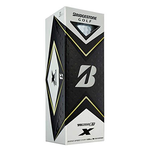 Bridgestone Golf Mens Tour B X Reactiv Tour Distance Golf Balls 3 Ball Pack White