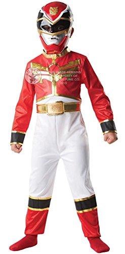 Rubie's-déguisement officiel - Power Rangers - Costume Classique Méga Force Rouge - Taille 5-6 ans- I-886667M