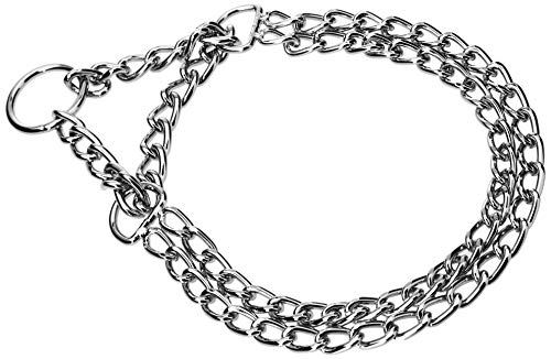 CHAPUIS SELLERIE Collier pour Chien Semi - étrangleur 2 Rangs Acier, Diamètre 2.5 mm, Longueur 45 cm, Taille M