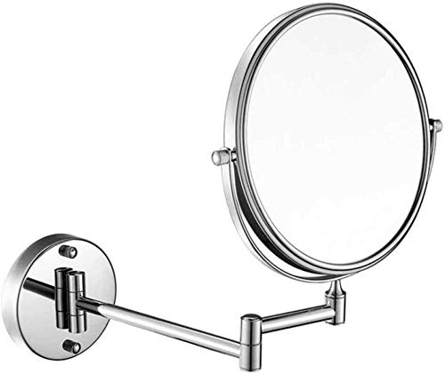 L&B-MR Espejo de maquillaje 6 pulgadas plegable espejo cosmético espejo espejo giratorio 360 grados lupa fácil instalar