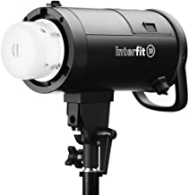 Interfit S1 500Ws HSS TTL AC and Battery-Powered Off-Camera Flash, Color Accurate 5700K +/- 100K, High Speed Sync to 1/8000s, Includes AC Power Pack and Removable Inline Lithium Ion Battery