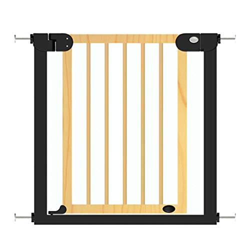 Barrière de sécurité Porte d'isolation en Bois pour bébé - Barrières d'escalier intérieures, pour Enfants, 76-153cm, Hauteur 77cm (Taille : Width 83-90cm)