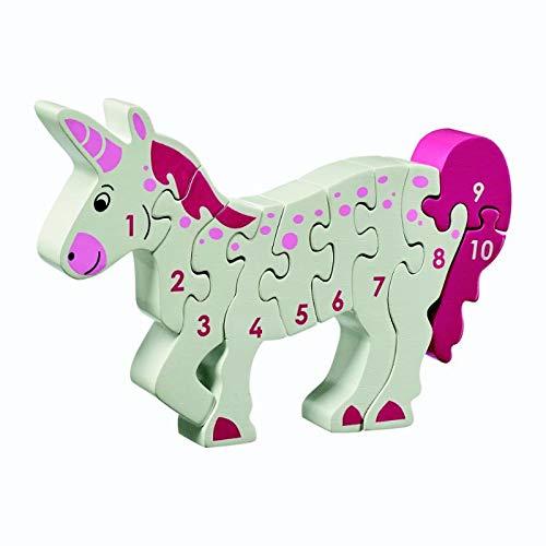 Houten puzzel Unicorn - Leren tellen 1-10