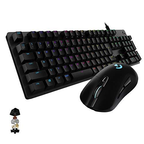 Logicool G ゲーミングキーボードマウスセット G512 タクタイルスイッチ、G703h LIGHTSPEEDワイヤレスマウス 国内正規品