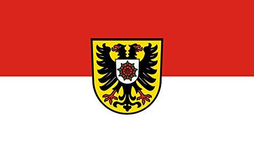 Unbekannt magFlags Tisch-Fahne/Tisch-Flagge: Kraichtal 15x25cm inkl. Tisch-Ständer