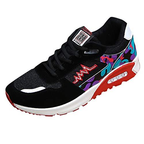 AIni Herren Schuhe Mode Beiläufiges 2019 Neuer Heißer Mesh Beathing Running Sport Sportliche Atmungsaktive Mesh Turnschuhe Freizeitschuhe Partyschuhe (44,Rot)