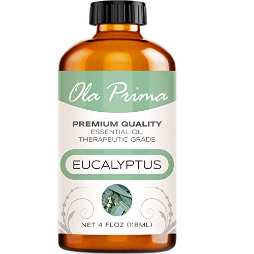 Ola Prima 4oz - Premium Quality Eucalyptus Essential Oil (4 Ounce Bottle) Therapeutic Grade Eucalyptus Oil