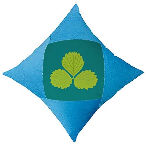 OFFbb-USA - Funda de cojín con diseño de tres hojas de menta y dibujos animados, color azul