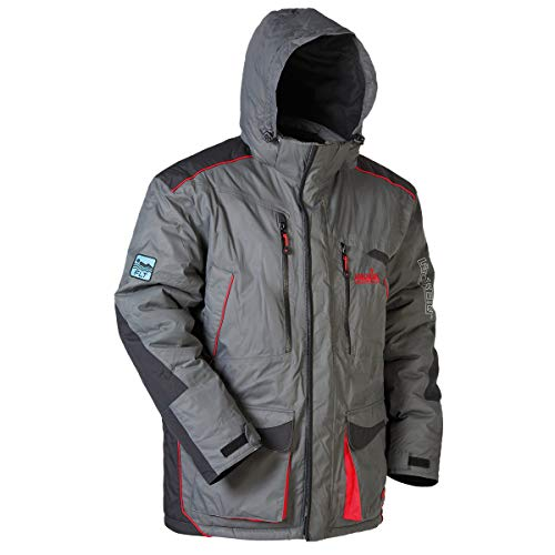 Norfin Discovery Heat Float Parka - Fishing Jacket - Waterproof and Breathable - Built in floating assistance FLT insulation - Wind Resistant - (XL)