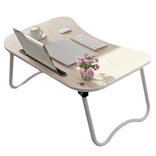 HCYTPL klaptafel, opvouwbaar, met tablet- en telefoonsleuven, perfect voor het bekijken van films op bed of als persoonlijke eettafel 3