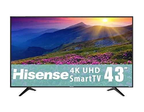 Hisense 43'' Roku TV 4k Ultra HD Pantalla LED con Wi-Fi y las Aplicaciones más Populares como Netflix Youtube Vudu y mucho más Desde tu Televisor 43R6E (Renewed)