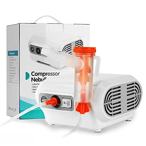 MGLIFMLY Portable Compressor Nebuliser, Home Nebuliser Machine Personal Steam Atomizer for Kids and...