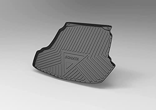 Coche Alfombrillas para maletero para Hyundai SONATA 2015-2019, Goma Alfombra Maletero Antideslizante Coche Interior Protectora Accesorios