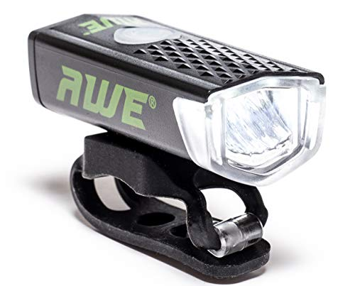 Awe, AWE300TM, 1fanale anteriore a LED per bicicletta, ricaricabile con cavo USB, 300 lm