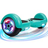 """SISGAD Hoverboard, 6.5"""""""" Two Wheel Self Balancing Electric Scooter with LED Lights, UL2272 Certified, Great Gift for Kids (Green - no bluetooth) - Best Reviews Guide"""