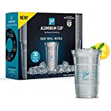 Ball Aluminum Cup | The Ultimate 100% Recyclable Cold-Drink Cup | 20 oz. Cup, 30 Cups Per Pack