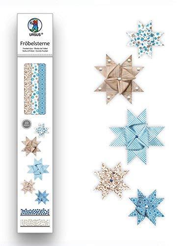 Ursus 34730000 - Fröbelsterne, 60 Streifen, sortiert in 2 verschiedenen Größen, blau