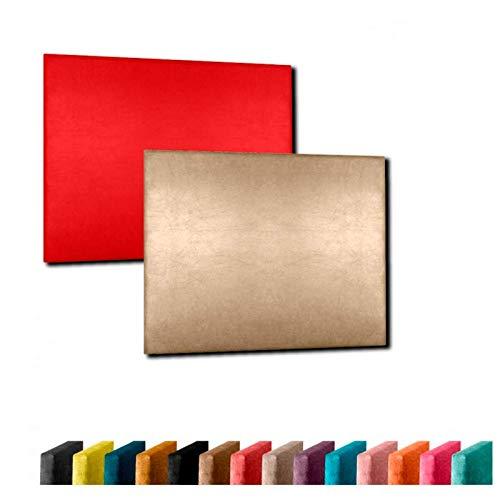 Cabecero de Cama Modelo Sevilla tapizado en Polipiel Azahar Altura 120cm. para Cama de 80 (Medidas 90x120x8) Color Rojo. Pro Elite.