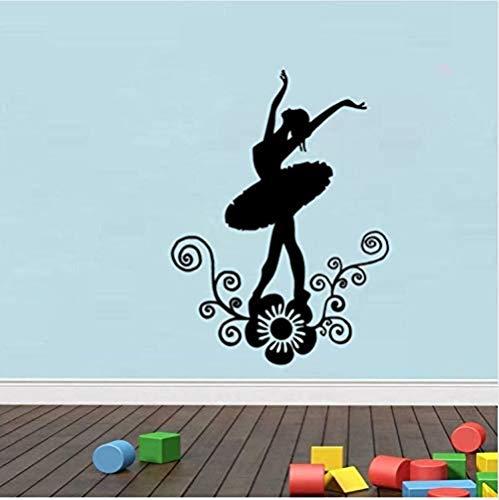 Home Decoration Kids Bedroom Vinyl Dance 3D Waterproof Removable PVC Poster DIY Creative Black Theme Wall Sticker Home Decoration Living Room Bedroom Kitchen Art Mural 45X60Cm