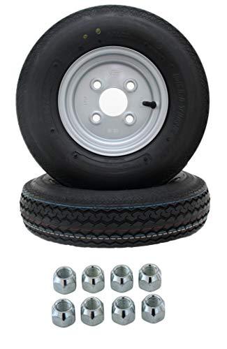 2 Stück DDR Stema Anhänger Deli Reifen Ersatzrad Komplettrad 4.00-8/4.80-8 4PR 62M Rad inklusive 8x Kegelradmuttern