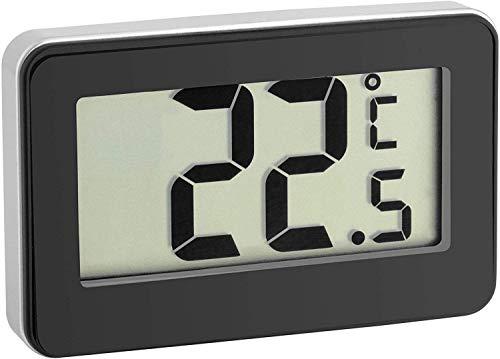 TFA Dostmann Digitales Thermometer, 30.2028.01, ideales Kühlthermometer, mit Magnet und Handler, klein und handlich, schwarz
