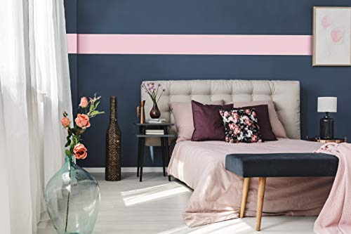 Removable Solid Wallpaper Border - Peel and Stick Paint - 7.5 inches Wide by 32 feet Long Roll (Pensacola Pink)