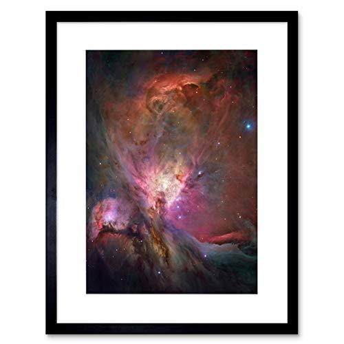 Wee Blauwe Coo Hubble Ruimte Telescoop Orion Nebula Omlijst Muur Art Print
