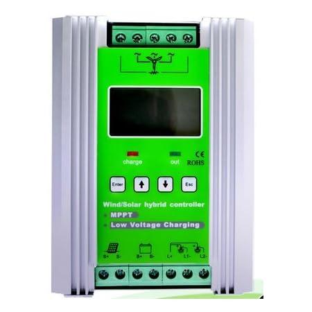 Gowe Mppt 1200w Intelligent Hybrid Charge Controller Solar Power 400w Wind Power 800w 12 24v Baumarkt