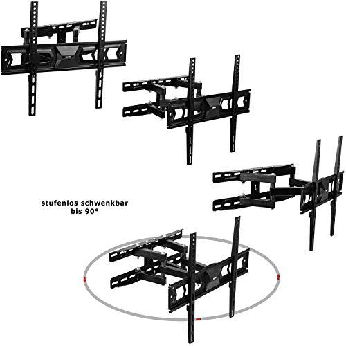MOUNTY TV MY232 Support Mural, pivotant, inclinable, Extensible, Universel, jusqu'à 100 kg, Max VESA 400x400 mm, Moniteur TV à écran Plat ULED QLED LED Plasma Curved 4K UHD
