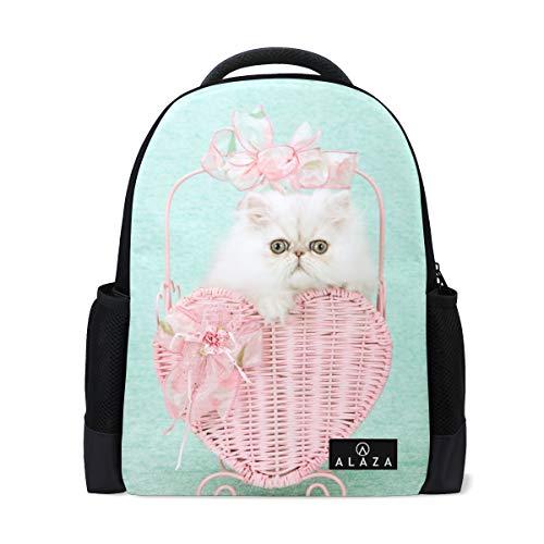 Chinchilla Kitten Cat Backpack 14 Inch Laptop Daypack Bookbag for Travel College School