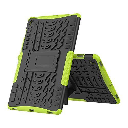 cookaR Case for Samsung Galaxy Tab S5e T720/T725 10.5, Soft Silicone and Hard PC Stand Cover Friendly Tempered Screen Protector Shockproof Shell for SAM-T720/T725 Tab S5e 10.5, Green