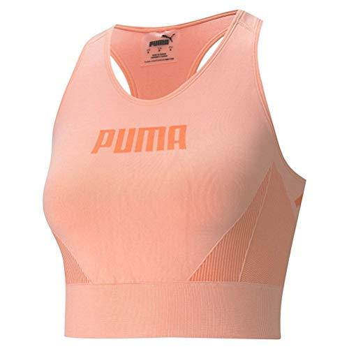 PUMA Damen Evostripe Evoknit Bra Top Sport Bh, Apricot Blush, L