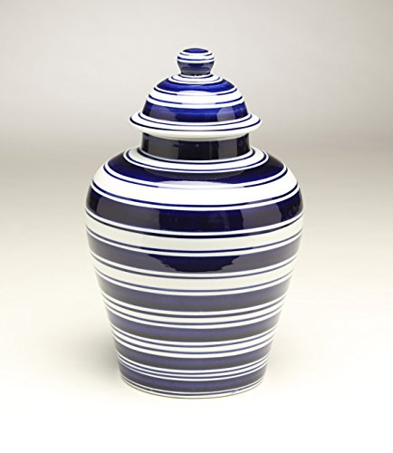 AA Importing 59957 Blue & White Ginger Jar