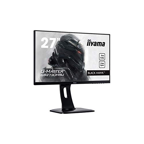iiyama G-MASTER Black Hawk GB2730HSU-B1 68,6 cm (27 Zoll) Gaming Monitor Full-HD (VGA, HDMI, DisplayPort, USB 2.0, 1ms Reaktionszeit, FreeSync, Höhenverstellung, Pivot) schwarz