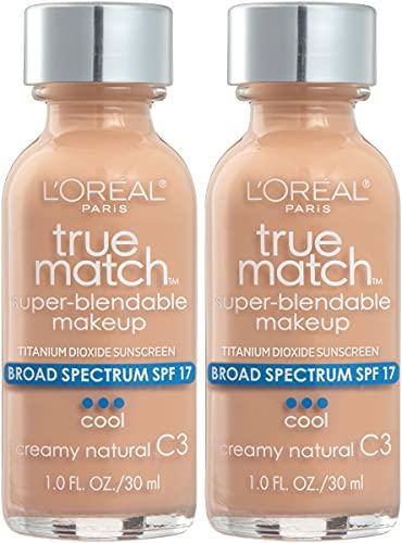 L'Oreal Paris Makeup True Match Super-Blendable Liquid Foundation, Creamy Natural C3, 1 Fl Oz,1 Count