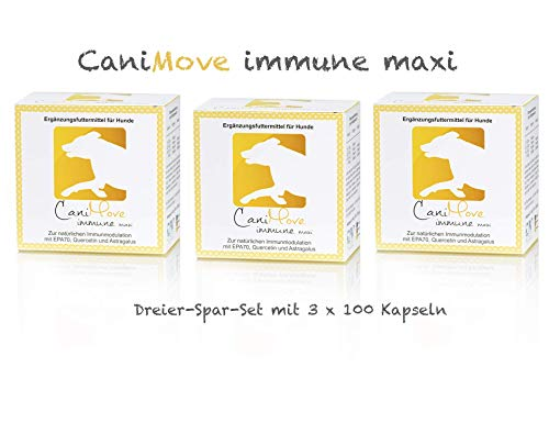 CaniMove immune maxi (früher EPA 70 maxi) Sparpaket mit 300 Kapseln zur Stabilisierung und Modulation des Immunsystems des Hundes.