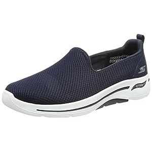 Skechers Women's Gowalk Arch Fit Grateful Slip-on Low Top Sneaker Shoes Navy/White 7.5