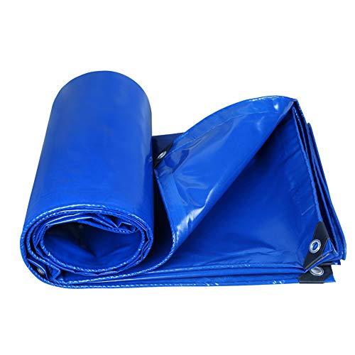 Bâche extérieure épaisse de Parasol de Protection Solaire imperméabilisent 0.35mm-350g / m² (Couleur : Bleu, Taille : 4x4m)