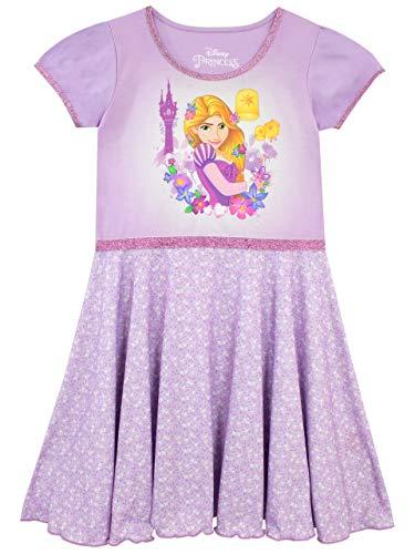 Disney Girls' Rapunzel Nightdress Size 5 Purple