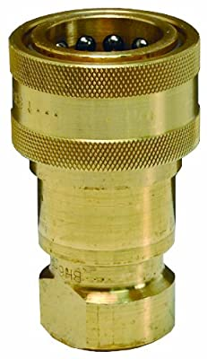 Dixon B16 Series Brass Industrial Hydraulic Quick-Connect Fitting, Poppet Valve Coupler, Coupling x NPTF